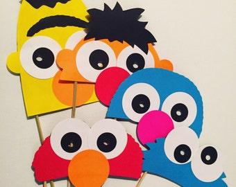 Sesame Street photo booth props/ masks