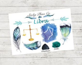 Libra Zodiac Sign Stickers