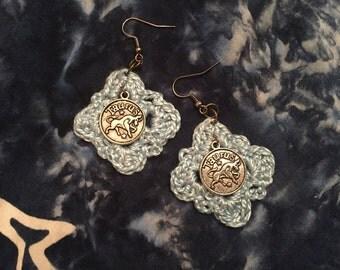 Zodiac Charm Crochet earrings