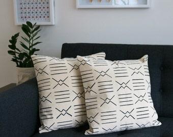 Hand painted decorative aztec pillow case