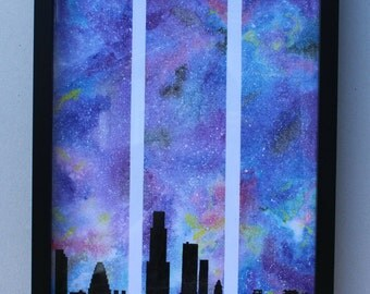 A3 Night sky of LA (print)