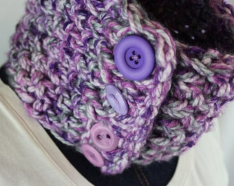 Warm cowl/ Purple cowl/ Soft cowl/ Ready to ship!