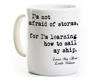 Little Women Mug - Louisa May Alcott Coffee Mug - Gift for Reader and Book Lover - English Teacher Gift- Classic Literature Gift Travel