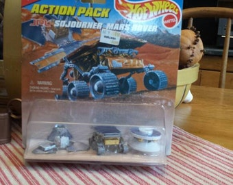 Sojourner Mars Rover...released 1996. Hot Wheels action pack. Mattel Inc. Rover mission to Mars