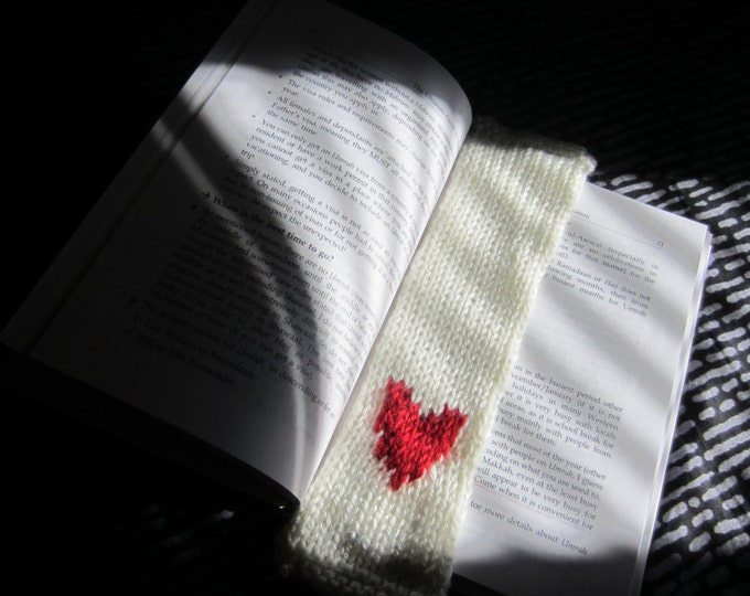 Knitted Bookmark - Fair Isle Knitting