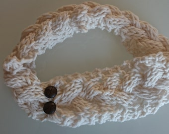 Knit Turban Headband - Hand knitted wool headband - ear warmer - Hand Made - Bohemian style