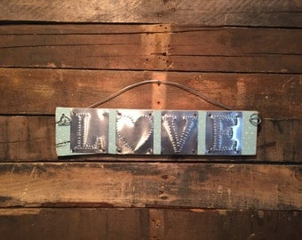 Small Aluminum Love Sign