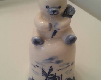 Rare Delft Holland Bear Bell
