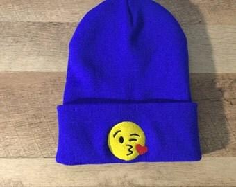 Emoji Embroidered Beanie