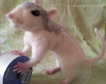 Needle felted Rat, made to order