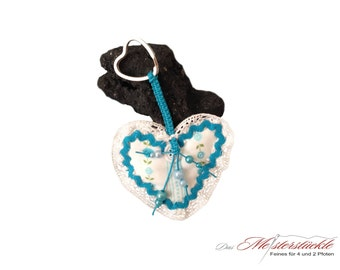 Key fob cottage heart bag