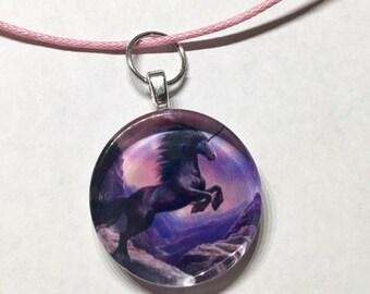 ON SALE Unicorn necklace