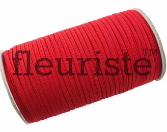 Skinny Elastic, Thin Elastic, 1/8 Elastic, Elastic By The Yard, Stretch Elastic, Solid Elastic, Wholesale Elastic, FOE, Red Elastic