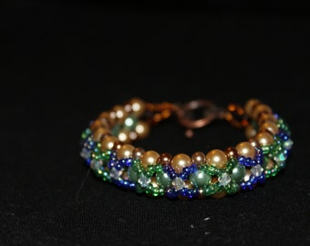 Fairy tale right angle weave bracelet 7.8inches""