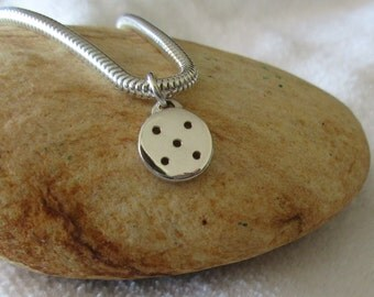Sterling Silver Pickleball Charm or Pendant