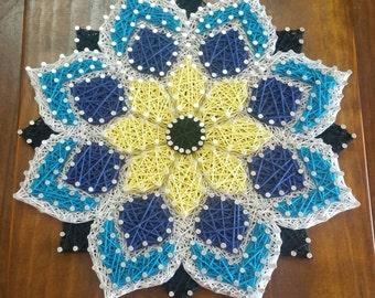 Mandala Flower String Art Wall Decor