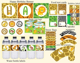 Zoo party pack Etsy