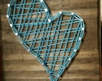 Aqua uneven heart