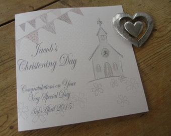 Personalised Christening Card - Church Design PPS129