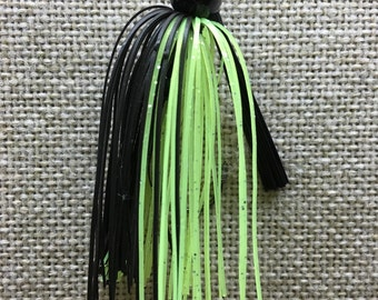 Black Chartreuse with Black Jig Head