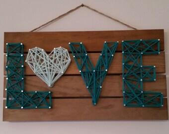 LOVE yarn, nail and wood art!