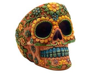 Orange Skull ashtray