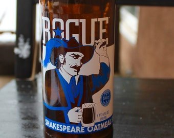 Rogue Shakespeare Oatmeal Stout upcycled beer bottle