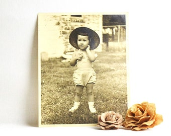 large vintage photograph of a young girl