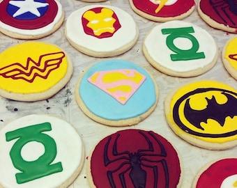 Superhero Sugar Cookie