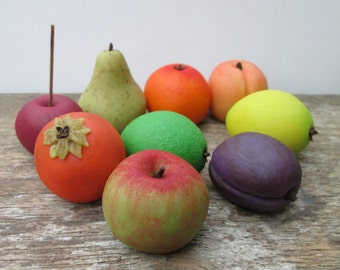 Marzipan Fruit (9) - marzipan pears - 3D marzipan fruit gift - marzipan candy - almond paste candy - fruit cake decorations - fondant friut