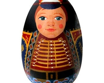 Toy Soldier Matryoshka Wood Egg
