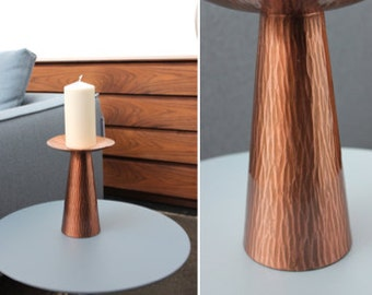 Mid century candlestick candle holder copper stand 60's 70's