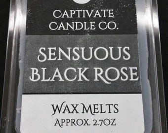 Sensuous Black Rose Wax Melt / Tart / Aroma / Clamshell / Gift