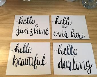 Hello Postcard Set