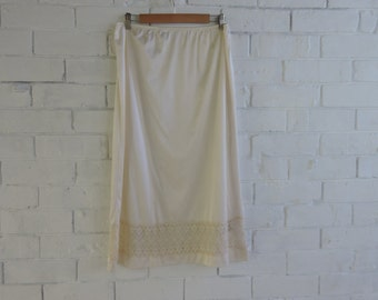 Vintage Cream Slip with Lace Detail