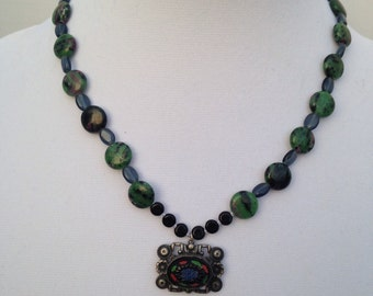 Genuine Stone Beaded Charm/Pendant Necklace