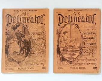 1893 and 1894 Issues of The Delineator Magazine