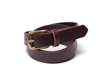 "Belt 1"" with a Classic Buckle in Brown"