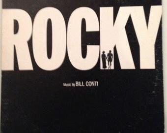 "Rocky- Music by Bill Conti, Rocky Original Motion Picture Soundtrack, Rocky Album, ""Gonna Fly Now"" Theme from Rocky, Rocky vinyl album"