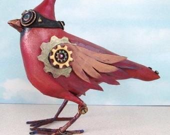 SE475E - Cardinal - Steampunk Art Doll Pattern