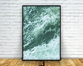 Ocean Print, Ocean waves print, Nautical Print, Ocean photography, Sea Print, Sea Art, Instant download, Sea Photography, digital, printable
