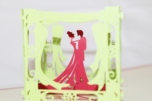 3D Love Couple In Box, Pop Up Birthday Card, Pop Up Car
