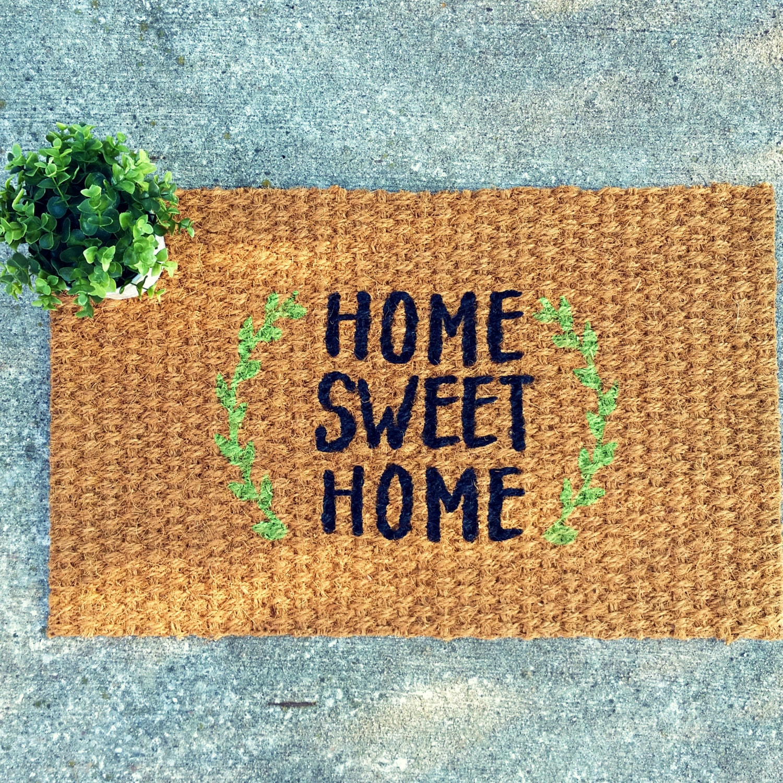 home sweet home doormat the image kid has it. Black Bedroom Furniture Sets. Home Design Ideas