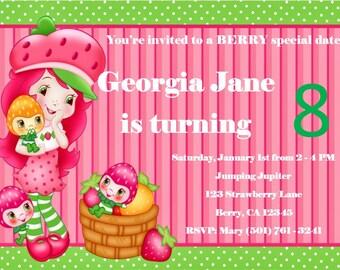 Strawberry Shortcake Birthday Invite