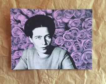 Simone de Beauvoir Flower Sticker