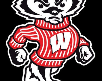 Wisconsin Badgers Bucky Vinyl Decal Sticker