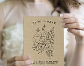 Save the Date | Printable Save the Date Template | Wedding Save the Date | Digital Download for Word | Customizable Digital Download