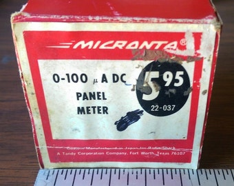 Unused (New in Box) Vintage MICRANTA - Microamperes D.C. 0-100 Meter New Old Stock