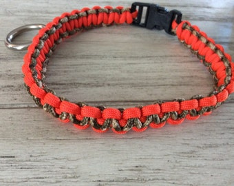 Neon Orange and cameo Collar