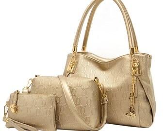 3 Women PU Leather Handbag set